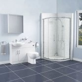 Encore Bathroom En-Suite with Quadrant Shower Enclosure - 800mm x 800mm