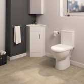 Knedlington Furniture Bathroom Suite with Floor Mounted Vanity Unit - 550mm Wide