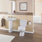 Premier Melbourne Bathroom Suite, Close Coupled Toilet, 1 Tap Hole Basin