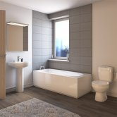 Melbourne Modern Complete Bathroom Suite with Single Ended 1700mm X 700mm Bath