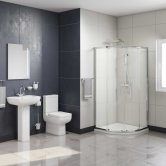 Options En-Suite with Double Quadrant Shower Enclosure - 800mm x 800mm