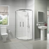 Pure Bathroom En-Suite with Quadrant Shower Enclosure - 900mm x 900mm