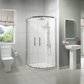 Pure Bathroom En-Suite with Quadrant Shower Enclosure - 800mm x 800mm