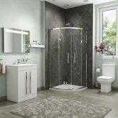 Purity En-Suite with Double Quadrant Shower Enclosure - 800mm x 800mm