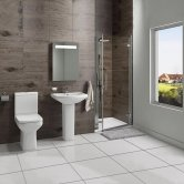 Trim Bathroom En-Suite with Hinged Shower Door - 800mm Wide