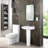 Nuie Ambrose Bathroom Suite 450mm Wide Basin