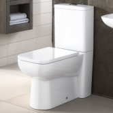 Premier Ambrose Back to Wall Toilet with Push Button Cistern - Excluding Seat
