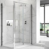 Premier Apex Sliding Shower Enclosure 1000mm x 700mm with Shower Tray - 8mm Glass
