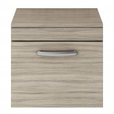 Premier Athena Wall Hung 1-Drawer Vanity Unit and Worktop 500mm Wide - Driftwood