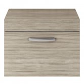 Premier Athena Wall Hung 1-Drawer Vanity Unit and Worktop 600mm Wide - Driftwood