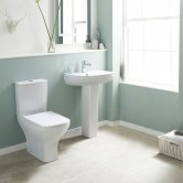 Premier Ava Bathroom Suite Close Coupled Toilet and 1 Tap Hole Basin