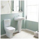 Premier Ava Bathroom Suite Close Coupled Toilet and 1 Tap Hole Basin