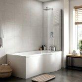 Premier B-Shaped Shower Bath 1500mm x 735mm/900mm - Right Handed