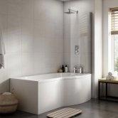 Premier B-Shaped Shower Bath 1700mm x 735mm/900mm - Right Handed