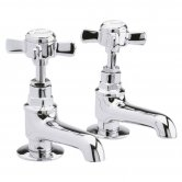 Nuie Beaumont Basin Taps Pair - Chrome