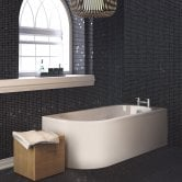 Nuie Crescent Back to Wall Single Ended Bath and Panel 1700mm x 725mm Right Handed