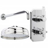 Nuie Edwardian Dual Concealed Mixer Shower with Fixed Head