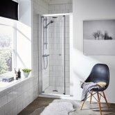 Premier Ella Bi-Fold Shower Door 800mm Wide - 5mm Glass