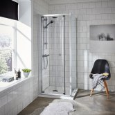 Premier Ella Bi-Fold Shower Enclosure 760mm x 760mm with Shower Tray - 5mm Glass