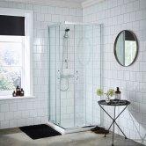 Premier Ella Corner Entry Shower Enclosure 760mm x 760mm - 5mm Glass