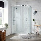 Premier Ella Offset Quadrant Shower Enclosure 1200mm x 800 with Shower Tray RH 5mm