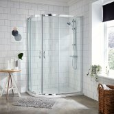 Premier Ella Offset Quadrant Shower Enclosure 1200mm x 900mm with Shower Tray LH - 5mm Glass