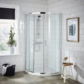 Premier Ella Quadrant Shower Enclosure 900mm x 900mm with Shower Tray - 5mm Glass