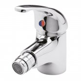 Nuie Eon Mono Bidet Mixer Tap with Pop Up Waste Single Handle - Chrome