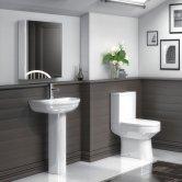 Premier Harmony Bathroom Suite 1 Tap Hole Basin