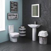 Premier Knedlington Bathroom Suite 1 Tap Hole