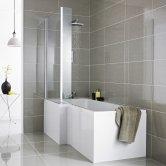 Premier L-Shaped Shower Bath Front Panel 500mm H x 1700mm W - Acrylic