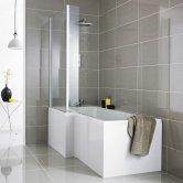 Premier L-Shaped Shower Bath Front Panel 500mm H x 1500mm W - Acrylic