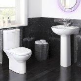 Premier Lawton Bathroom Suite 1 Tap Hole Basin