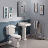 Nuie Legend Traditional Bathroom Suite 2 Tap Hole