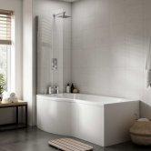 Premier Acrylic B-Shaped Bath End Panel 500mm H x 700mm W - White
