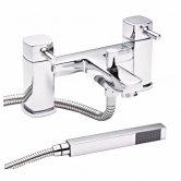 Premier Munro Bath Shower Mixer Tap Pillar Mounted - Chrome
