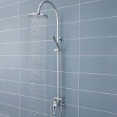 Premier Ocean Manual Concealed or Exposed Shower Mixer with Single Kit + Fixed Head