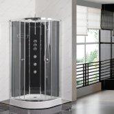 Premier Opus Quadrant Shower Cabin, 800mm x 800mm, Carbon Black