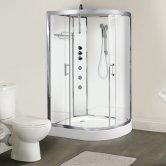Premier Opus LH Offset Quadrant Shower Cabin, 1200mm x 800mm, Polar White