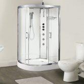Premier Opus RH Offset Quadrant Shower Cabin, 1200mm x 800mm, Polar White
