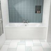 Nuie Otley Double Ended Rectangular Bath 1700mm x 700mm - Acrylic