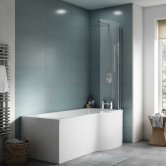 Premier P-Shaped Shower Bath 1700mm x 700mm/850mm - Right Handed