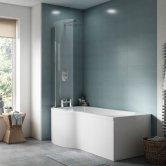 Premier P-Shaped Shower Bath 1600mm x 700mm/850mm - Left Handed