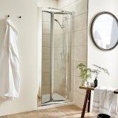 Premier Pacific Bi-Fold Shower Door 700mm Wide - 4mm Glass