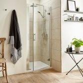 Premier Pacific Hinged Shower Door 700mm Wide - 6mm Glass