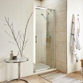 Premier Pacific Pivot Shower Door 700mm Wide - 6mm Glass