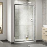 Nuie Pacific Sliding Shower Door 1000mm Wide - 6mm Glass