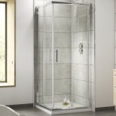 Premier Pacific Corner Entry Shower Enclosure 800mm x 800mm - 6mm Glass