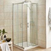 Premier Pacific Corner Entry Shower Enclosure, 900mm x 900mm, 6mm Glass