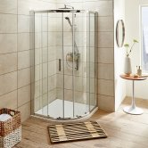 Premier Pacific Quadrant Shower Enclosure 900mm x 900mm with Shower Tray - 6mm Glass